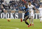 Inter Milan's Yann Karamoh scores his side's second goal during the Serie A soccer match between Inter Milan and Bologna at the San Siro stadium in Milan, Italy, Sunday, Feb. 11, 2018. (AP Photo/Antonio Calanni)