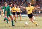 Στιγμιότυπο από την αναμέτρηση ΑΕΚ-Λεβαδειακός 5-1 , από το πρωτάθλημα της περιόδου 1988-89.
