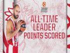 Ο Βασίλης Σπανούλης έγινε ο πρώτος σκόρερ της Euroleague