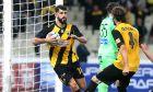 Ο Νέλσον Ολιβέιρα της ΑΕΚ πανηγυρίζει το γκολ που σημείωσε στην αναμέτρηση με τον Ατρόμητο για τη Super League 1 2019-2020 στο Ολυμπιακό Στάδιο, Κυριακή 3 Νοεμβρίου 2019