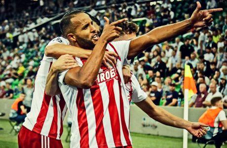 O Eλ Αραμπί πετυχαίνει το δεύτερο προσωπικό του τέρμα στην εκτός έδρας αναμέτρηση του Ολυμπιακού με την Κρασνοντάρ για τα playoffs του Champions League 2019-2020