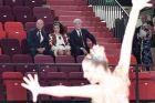 Ο πρόεδρος της Ρωσίας, Βλαντίμιρ Πούτιν, με την πρόεδρο της ομοσπονδίας ρυθμικής γυμναστικής της Ρωσίας, Ιρίνα Βίνερ, και τον δήμαρχο Μόσχας, Σεργκέι Σαμπιάνιν, παρακολουθούν προπόνηση στο 'Βίνερ Ουσμάνοφα Κέντρο Ρυθμικής Γυμναστικής', Μόσχα, Σάββατο 7 Σεπτεμβρίου 2019