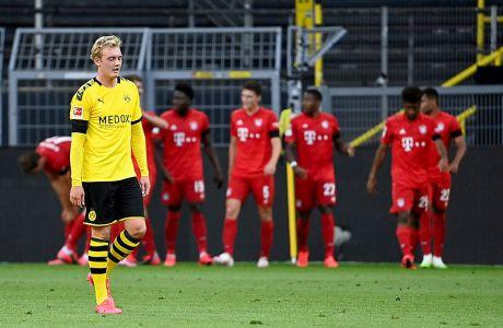 Ο Γιούλιαν Μπραντ της Ντόρτμουντ σε στιγμιότυπο της αναμέτρησης με την Μπάγερν για την Bundesliga 2019-2020 στο 'Ζίγκναλ Ιντούνα Παρκ', Ντόρτμουντ, Τρίτη 26 Μαΐου 2020