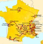 Ο χάρτης με τη διαδρομή του Γύρου Γαλλίας 2020.
