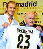 Η επίσημη παρουσίαση του Ντέιβιντ Μπέκαμ από τη Ρεάλ Μαδρίτης (21/7/2003).