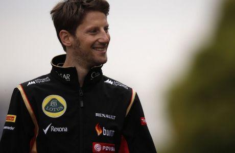 Shanghai International Circuit, Shanghai, China. Saturday 19 April 2014. Romain Grosjean, Lotus F1. Photo: Charles Coates/Lotus F1 Team. ref: Digital Image _N7T2159