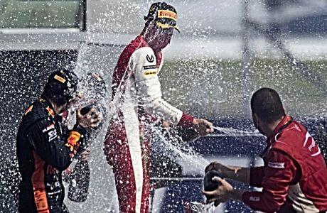 Ο Μικ Σουμάχερ ανέβηκε για δεύτερη φορά φέτος, στο κορυφαίο σκαλοπάτι του βάθρου στη Formula 2.
