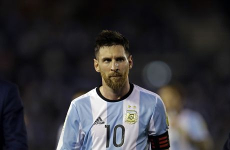 Argentinas Lionel Messi  leaves the pitch after a 2018 Russia World Cup qualifying soccer match between Argentina and Chile at the Monumental stadium in Buenos Aires, Argentina, Thursday March 23, 2017. Argentina won the match 1-0. (AP Photo/Victor R. Caivano)