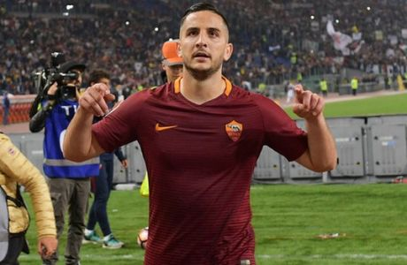 ROME, ITALY - MAY 14:  AS Roma player  Konstantinos Manolas after the Serie A match between AS Roma and Juventus FC at Stadio Olimpico on May 14, 2017 in Rome, Italy.  (Photo by Luciano Rossi/AS Roma via Getty Images)