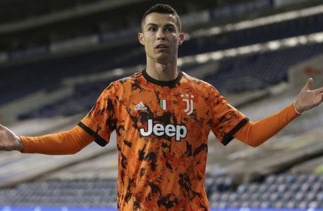 Ο Κριστιάνο Ρονάλντο στη διάρκεια της αναμέτρησης με την Πόρτο στο 'Dragao', όπου η Γιουβέντους ηττήθηκε με σκορ 2-1 για την φάση των '16' του Champions League | 17/02/2021 ⓒ 2021 Luis Vieira/Associated Press