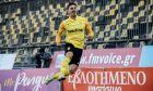 Ο Ντανιέλ Μανσίνι του Άρη πανηγυρίζει γκολ που σημείωσε κόντρα στον Αστέρα για το 1ο παιχνίδι της φάσης των 16 του Κυπέλλου Ελλάδας 2020-2021 στο 'Κλεάνθης Βικελίδης' | Τετάρτη 20 Ιανουαρίου 2021
