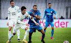 Ο Γιουσούφ ελ Αραμπί του Ολυμπιακού σε στιγμιότυπο της αναμέτρησης με τη Μαρσέιγ για τη φάση των ομίλων του Champions League 2020-2021 στο 'Βελοντρόμ' | Τρίτη 1 Δεκεμβρίου 2020