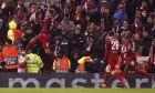 Ο Ρομπέρτο Φιρμίνο της Λίβερπουλ πανηγυρίζει γκολ που σημείωσε κόντρα στην Ατλέτικο Μαδρίτης για τον 2ο αγώνα της φάσης των 16 του Champions League 2019-2020 στο 'Άνφιλντ', Λίβερπουλ   Τετάρτη 11 Μαρτίου 2020