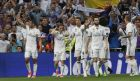 Real Madrid's Casemiro, left' celebrates after scoring during a Spanish La Liga soccer match between Real Madrid and Barcelona, dubbed 'el clasico', at the Santiago Bernabeu stadium in Madrid, Spain, Sunday, April 23, 2017. (AP Photo/Francisco Seco)