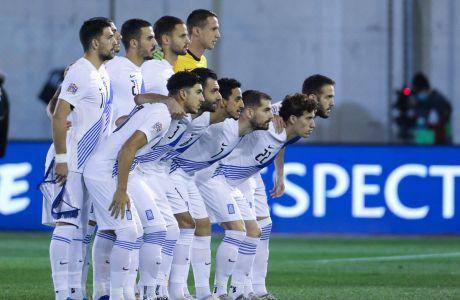Η Εθνική Ελλάδας πριν από την αναμέτρηση για τη Σλοβενία για τη φάση των ομίλων του Nations League 2020-2021 στο 'Γεώργιος Καμάρας' | Τετάρτη 18 Νοεμβρίου 2020