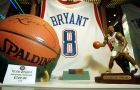 A basketball autographed by Kobe Bryant is offered for sale for $749, and the autographed All-Star game jersey, at rear, is tagged at $999 on display at the All Star Collectibles store at Universal CityWalk in Universal City, Calif., Tuesday, Aug. 10, 2004.  While Bryant's marketing power could wane regardless of how his rape case turns out, it's unlikely to affect the sale of his memorabilia.(AP Photo/Reed Saxon)
