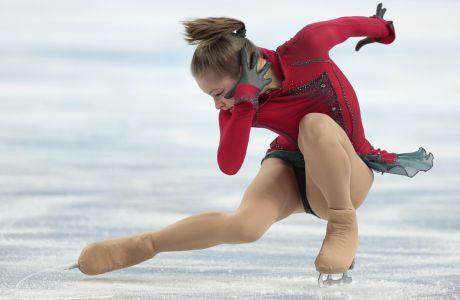 Η Γιούλια Λιπνίτσκαγια στον τελικό του χορού στον πάγκο ελεύθερου προγράμματος στους Χειμερινούς Ολυμπιακούς Αγώνες 2014, Σότσι, Πέμπτη 20 Φεβρουαρίου 2014