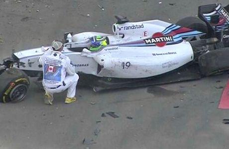 Η τρομακτική σύγκρουση Massa - Perez (VIDEO)