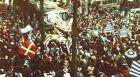 Η υποδοχή των πρωταθλητών του 1980/81 στο Σαν Σεμπαστιάν.