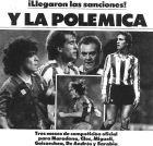 Η ανακοίνωση της τιμωρίας των πρωταγωνιστών των επεισοδίων στο πρωτοσέλιδο της Mundo Deportivo (17/5/1984)