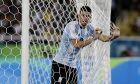 Ο Χόναταν Καλέρι της Αργεντινής σε στιγμιότυπο της αναμέτρησης με την Πορτογαλία για το τουρνουά ποδοσφαίρου των Ολυμπιακών Αγώνων 2016 στο 'Μαρακανά', Ρίο ντε Ζανέιρο, Πέμπτη 4 Αυγούστου 2016