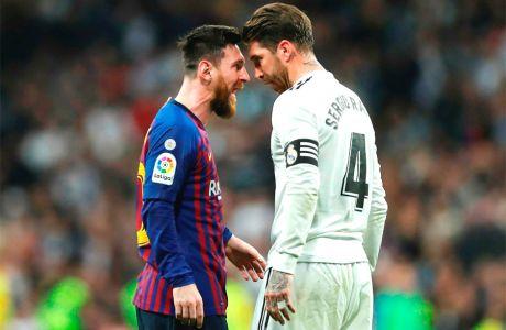 Μέσι και Σέρχιο Ράμος σε clásico του ισπανικού πρωταθλήματος (2/3/2019).