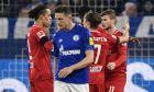Ο Τίμο Βέρνερ πανηγυρίζει, έχοντας σκοράρει το 2-0 για τη Λειψία, κόντρα στη Σάλκε