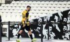 Ο Μάρκο Λιβάγια της ΑΕΚ αποχωρεί για τα αποδυτήρια όταν έγινε αλλαγή στο παιχνίδι με την Κραϊόβα, στο δεύτερο σκέλος του 3ου προκριματικού γύρου του Europa League στο Ολυμπιακό Στάδιο, Πέμπτη 15 Αυγούστου 2019