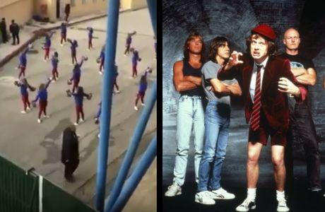 Προθέρμανση με AC/DC οι τσιρλίντερ της Κέρκυρας!