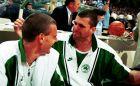 Με τον συμπατριώτη του Μάικλ Κοχ στον πάγκο του Παναθηναϊκού, σε αγώνα της περιόδου 1997-1998