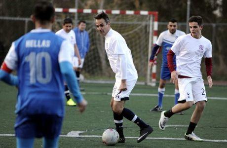ΑΘΗΝΑ-Ο πρόεδρος της ΝΔ Κυρ. Μητσοτάκης σε φιλανθρωπικό ποδοσφαιρικό αγώνα. Συμμετείχε στον αγώνα μεταξύ της ομάδας της ΝΔ και της Εθνικής Ομάδας Αστέγων.(Eurokinissi-ΜΠΟΛΑΡΗ ΤΑΤΙΑΝΑ )