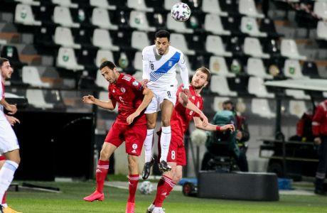 Ο Ζέκα της Εθνικής Ελλάδας σε στιγμιότυπο της αναμέτρησης με τη Γεωργία για τα προκριματικά του Παγκοσμίου Κυπέλλου 2022 στο γήπεδο της Τούμπας | Τετάρτη 31 Μαρτίου 2021