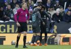 Chelsea's Alvaro Morata, center right, celebrates with Chelsea's Willian, right and Chelsea's Eden Hazard after scoring his side's opening goal during the English FA Cup quarterfinal soccer match between Leicester City and Chelsea, at the King Power stadium in Leicester, England, Sunday, March 18, 2018. (AP Photo/Frank Augstein)