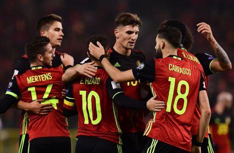 """Προκαλεί τρόμο το Βέλγιο: """"Έριξε"""" οκτώ γκολ στην Εσθονία!"""