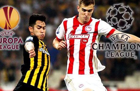 Ολυμπιακός και ΑΕΚ παίζουν Ευρώπη με 400+ ειδικά στοιχήματα στο Stoiximan.gr!
