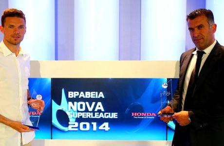 MVP ο Μπεργκ, καλύτερος προπονητής ο Αναστασίου
