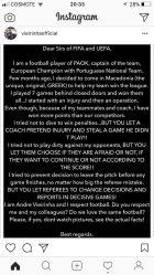 Επιστολή-ξέσπασμα Βιεϊρίνια σε FIFA και UEFA!
