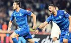 Ο Γαλανόπουλος σκοράρει το πρώτο του τέρμα με το εθνόσημο, οδηγώντας την Ελλάδα σε νίκη με σκορ 2-1 επί της Φινλανδίας στο ΟΑΚΑ, για την 10η αγ. του Group J της προκριματικής φάσης του Euro 2020 (18/11/2019) - ΦΩΤΟΓΡΑΦΙΑ: ΜΑΡΚΟΣ ΧΟΥΖΟΥΡΗΣ / EUROKINISSI