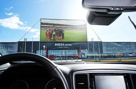 Η Μίντιλαντ σχεδιάζει να επιτρέψει τη στάθμευση σε 2.000 αυτοκίνητα έξω από το γήπεδό της ώστε οδηγοί και συνεπιβάτες να βλέπουν τους κεκλεισμένων των θυρών αγώνες της σε δύο γιγαντοοθόνες