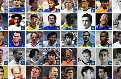 Οι 100 κορυφαίοι του Παγκοσμίου Κυπέλλου (θέσεις 100-61)