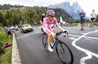 Ο Στέιβεν Κράισβαϊκ με τη ροζ φανέλα στο Giro d'Italia του 2016.