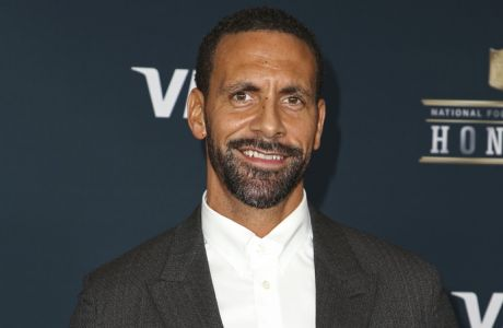 Rio Ferdinand arrives at the 6th annual NFL Honors at the Wortham Center on Saturday, Feb. 4, 2017, in Houston. (Photo by John Salangsang/Invision for NFL/AP Images)