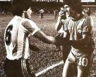 Ντιέγο Μαραντόνα και Ζίκο πριν τη συνάντηση Αργεντινής - Βραζιλίας στο Κόπα Αμέρικα του 1979.