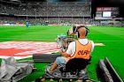 """Κάμεραμαν της La Liga στο """"Βιθέντε Καλντερόν""""."""