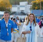 Ο αργυρός Ολυμπιονίκης Σπύρος Γιαννιώτης με την Πρόεδρο του Ελληνικού Οργανισμού Τουρισμού, κα. Άντζελα Γκερέκου