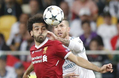 Μο Σαλάχ και Σέρχιο Ράμος στον τελικό Champions League Λίβερπουλ-Ρεάλ το 2018. Οι ομάδες τους θα είναι ιδρυτικά μέλη της ESL