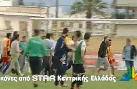 Επίθεση παικτών και οπαδών σε αντιπάλους (VIDEO)