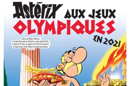 Το πρωτοσέλιδο της Equipe για τον θάνατο του δημιουργού του Αστερίξ, Αλμπέρ Ουντερζό, και την αναβολή των Ολυμπιακών Αγώνων 2020