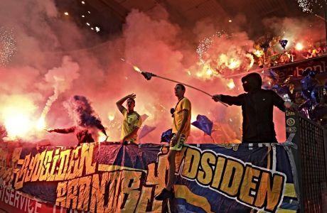 Εντυπωσιακό coreo από τον αγώνα του Europa League ανάμεσα σε Γκενκ και Μπρόντμπι.