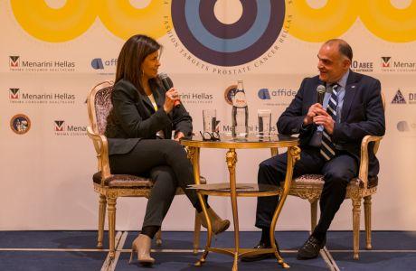 Από αριστερά: πρόεδρος 'Στόχος - Πρόληψη' κα. Μαριλένα Στρατοπούλου Κιτσοπάνου, πρόεδρος Ελληνικής Ουρολογικής Εταιρείας κ. Ιωάννης Γκιάλας